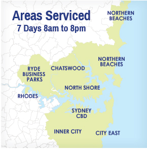 map of areas serviced