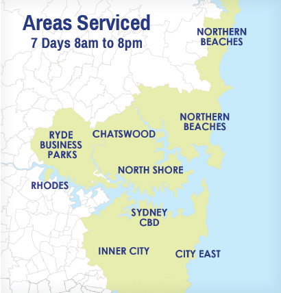 Areas Serviced